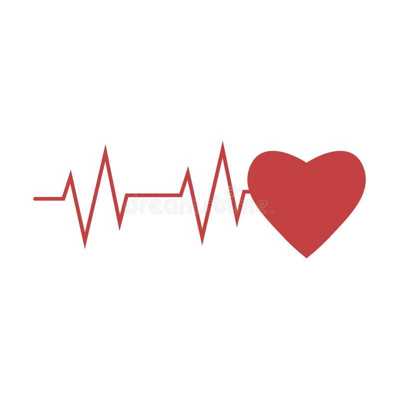 Cardio, hart, hart sla pictogram Vectorillustratie, vlak ontwerp vector illustratie
