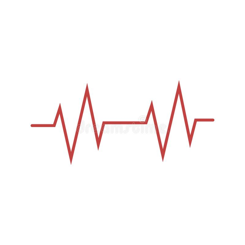 Free Cardio, Heart, Heart Beat Icon. Vector Illustration, Flat Design Royalty Free Stock Photo - 142610545