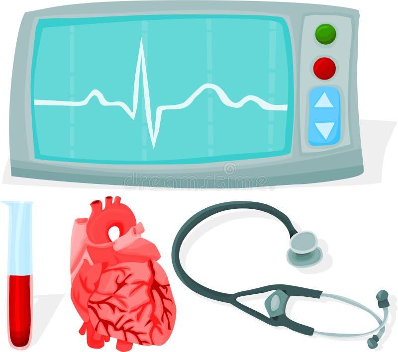 Cardio- jogo ilustração stock