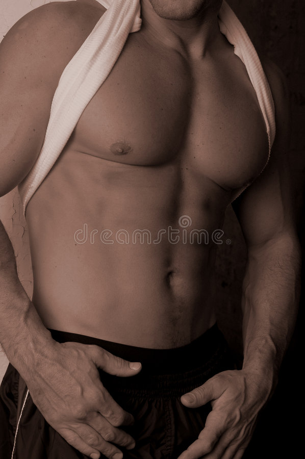 Cardio Man Royalty Free Stock Photos