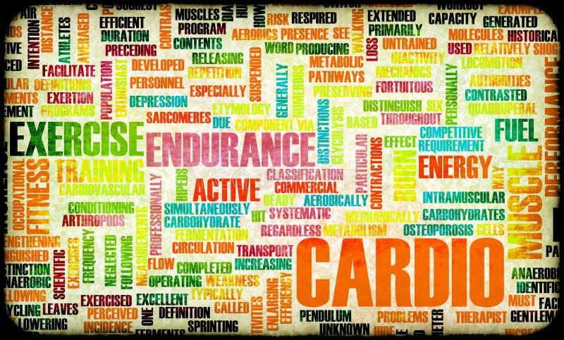 Cardio Training royalty-vrije illustratie