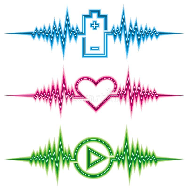 Cardiogram ilustração do vetor
