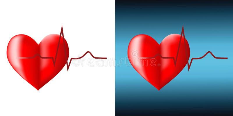 cardiogram royaltyfri illustrationer