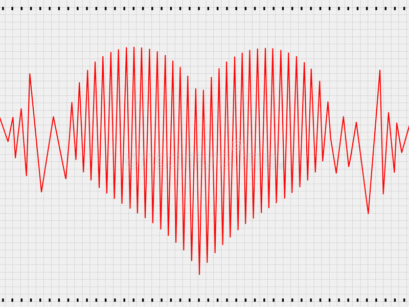 cardiogram stock illustrationer