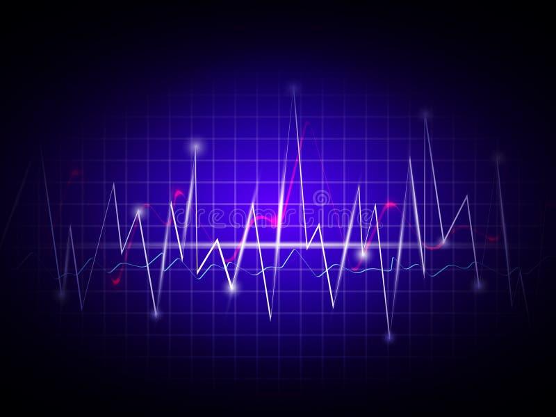 Cardiogram ilustração stock