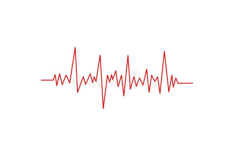 cardiogram Aislado en el fondo blanco icono ilustración del vector