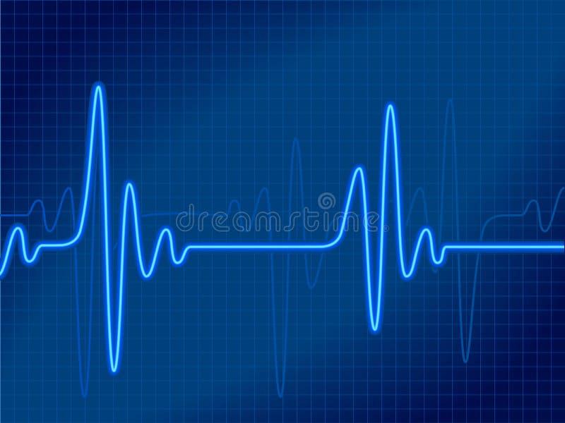 Cardiogram azul ilustração royalty free
