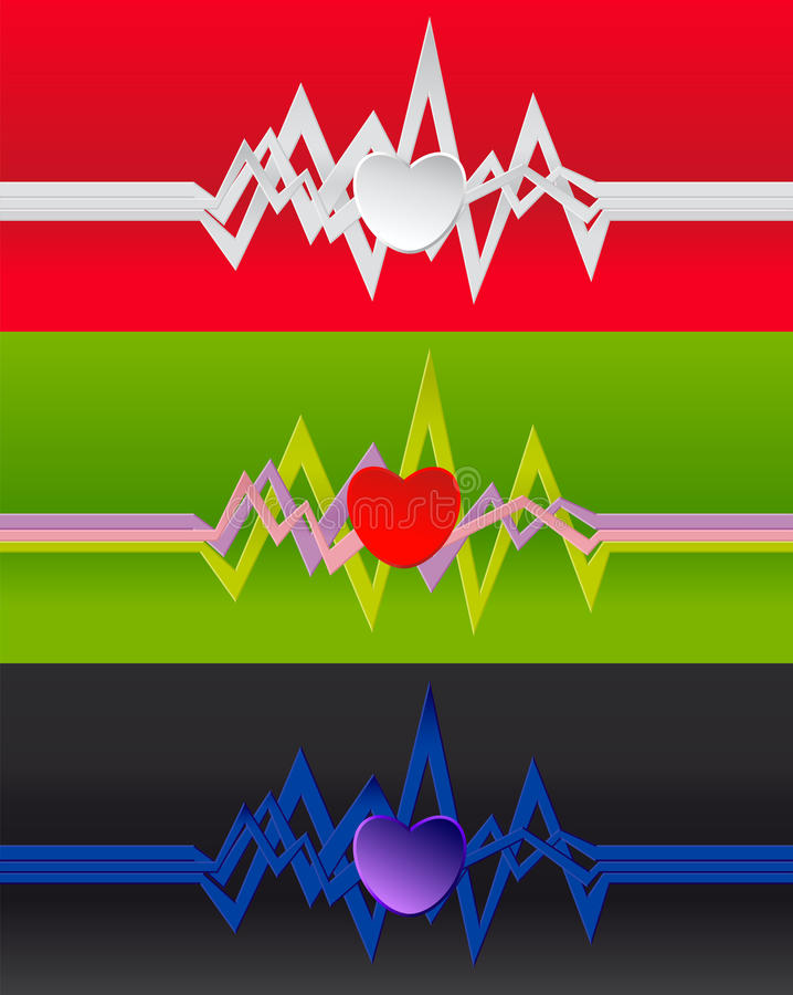 Cardiogram background. royalty free illustration