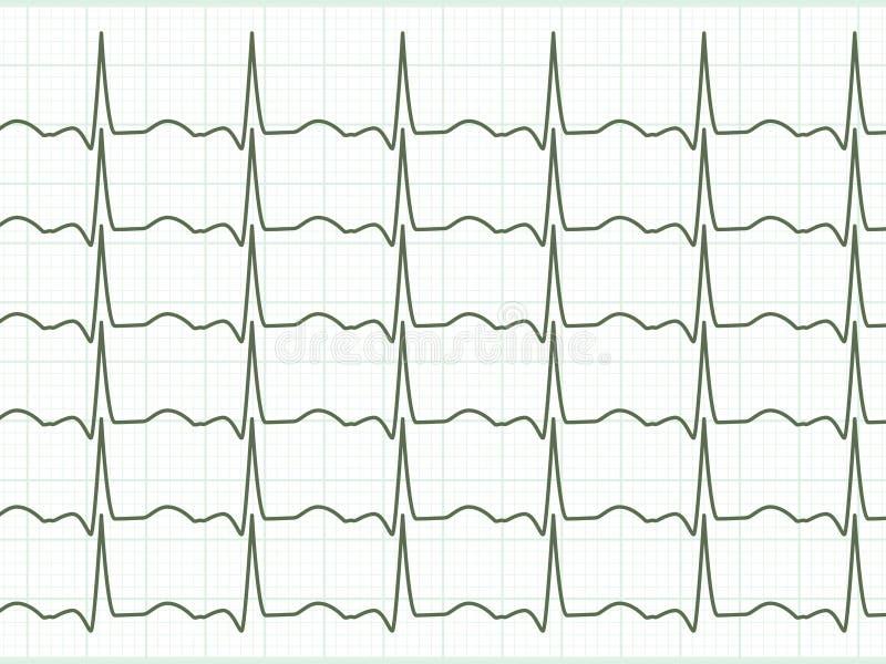 Cardiogram del cuore. ENV 8 illustrazione vettoriale
