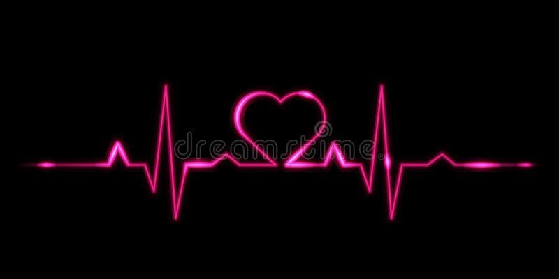 Cardiogram do amor ilustração do vetor
