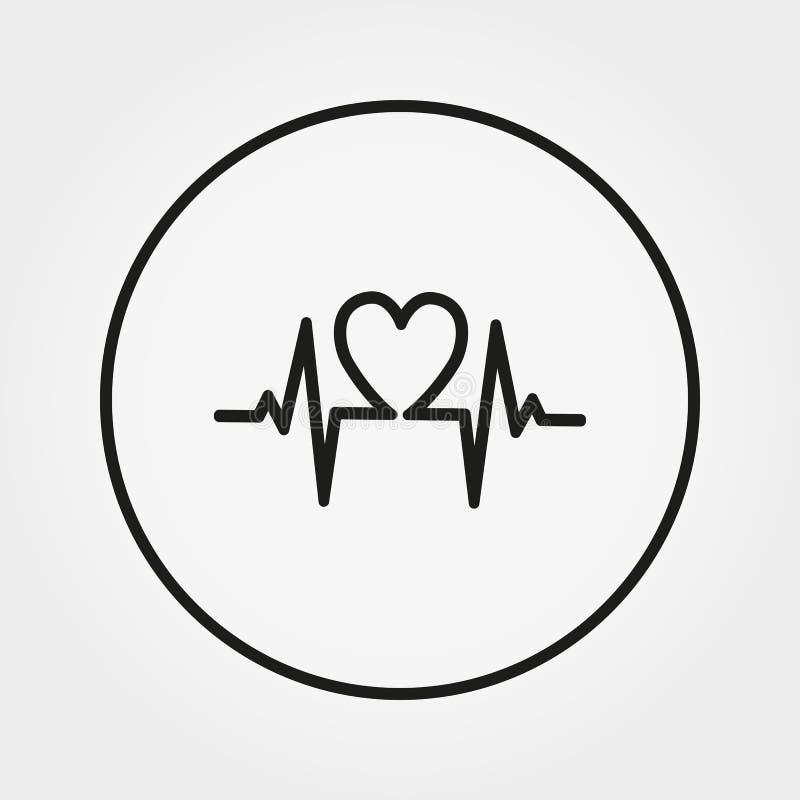 cardiogram Icono universal Vector Línea fina Editable stock de ilustración