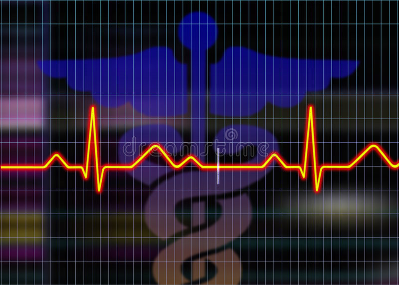 Cardiogram illustration royalty free illustration