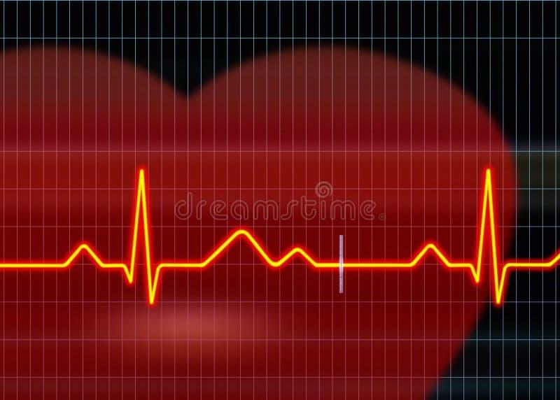 Cardiogram illustration stock images