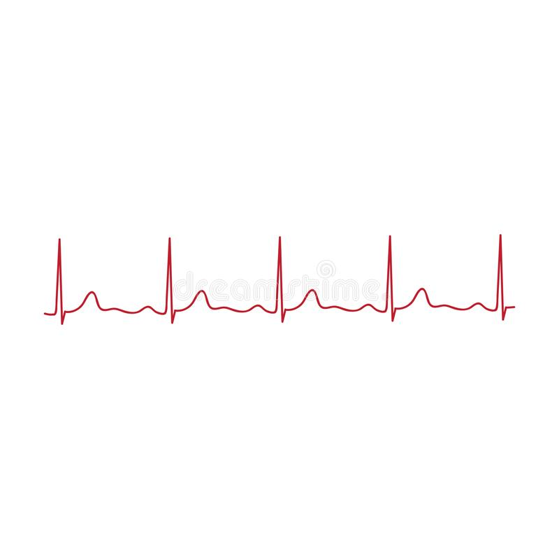 cardiogram línea de corazón, vector libre illustration