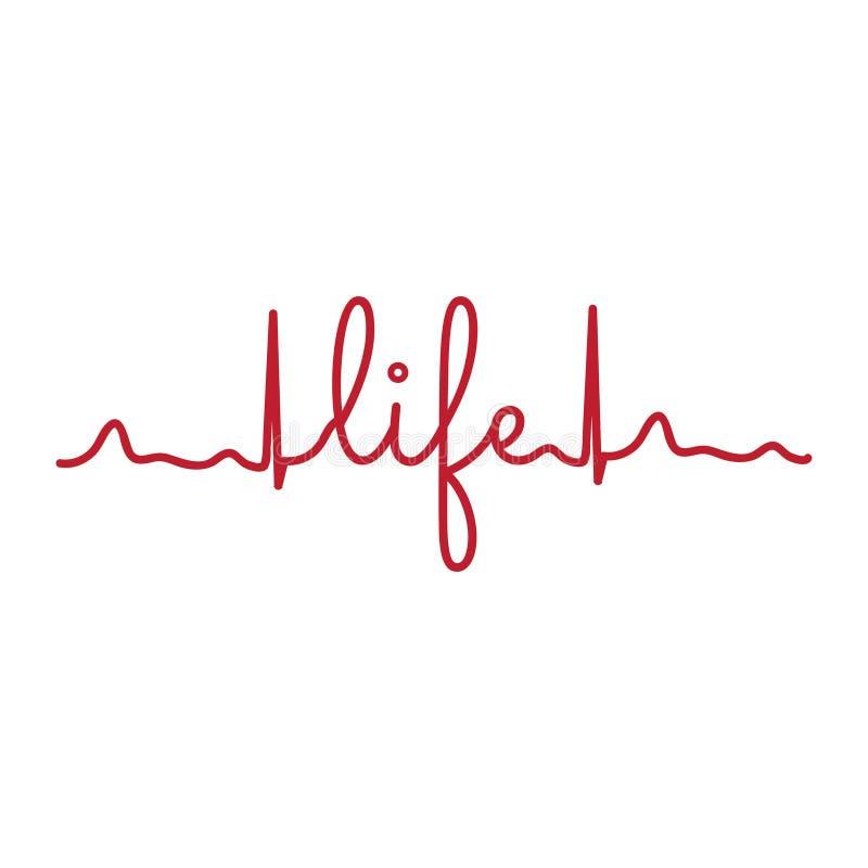 cardiogram ligne de coeur, vecteur illustration stock