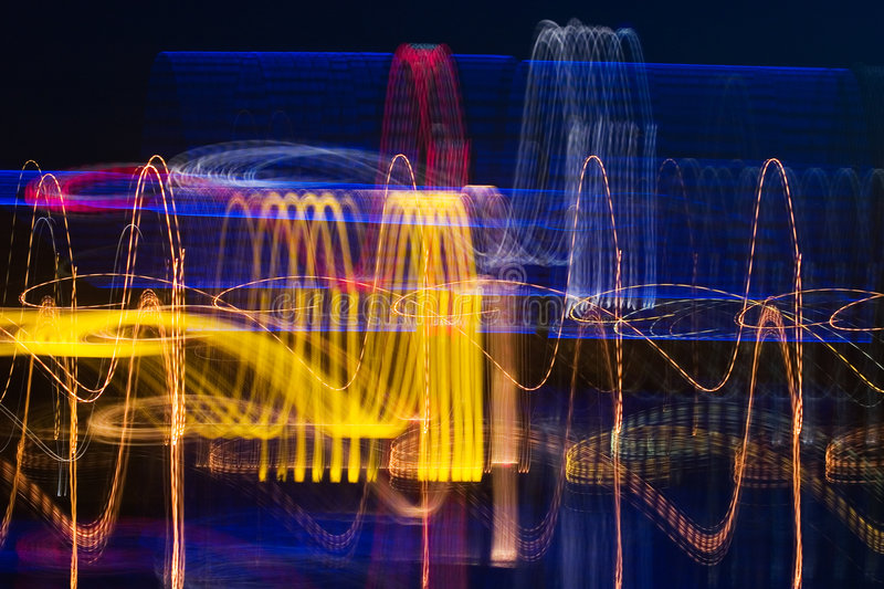 Cardiogram of night city royalty free stock photography