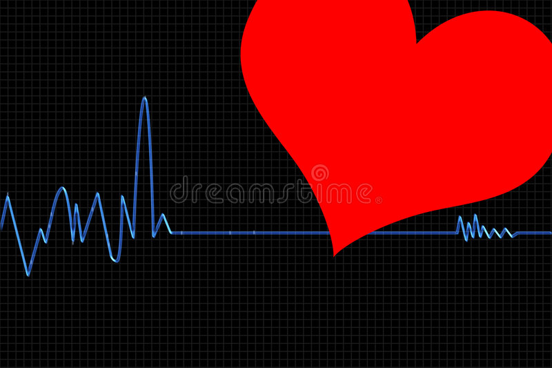 cardiogram1 stock illustrationer