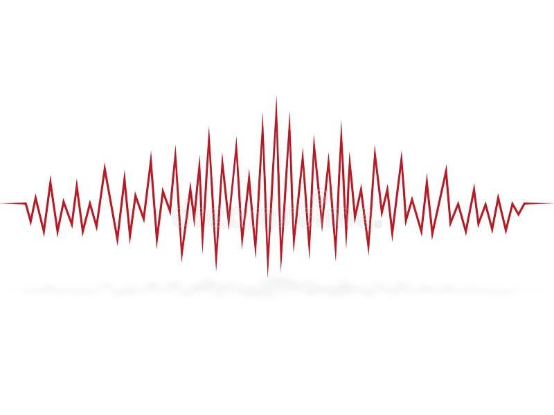 Cardiograma da pulsação do coração pulso onda ilustração stock