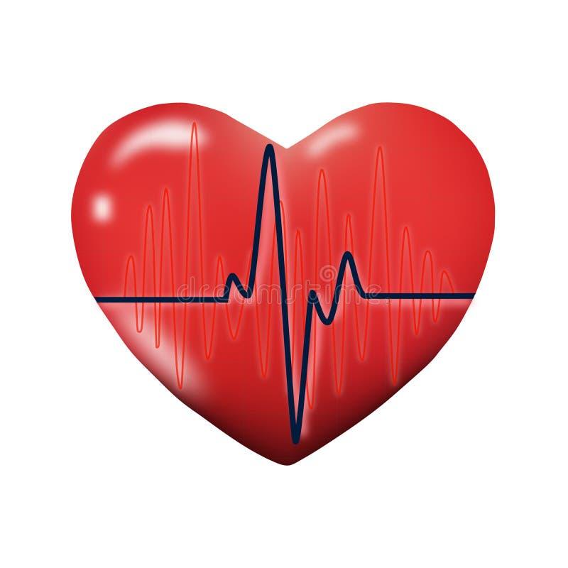 Cardiograma do coração foto de stock
