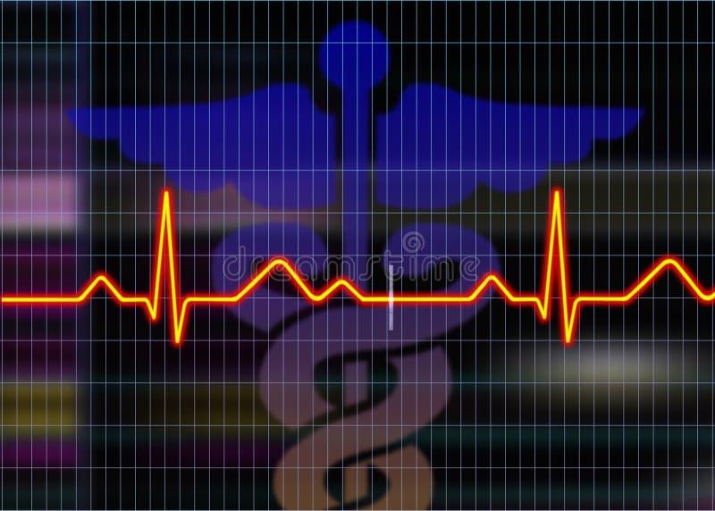 cardiogramillustration royaltyfri illustrationer