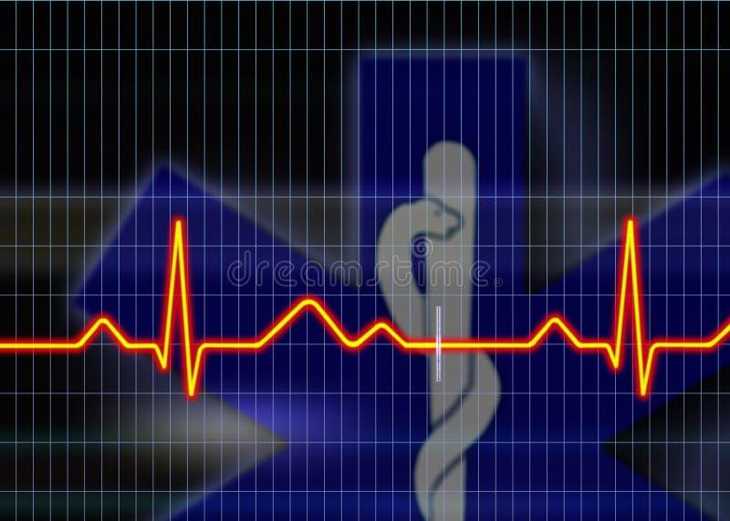cardiogramillustration vektor illustrationer