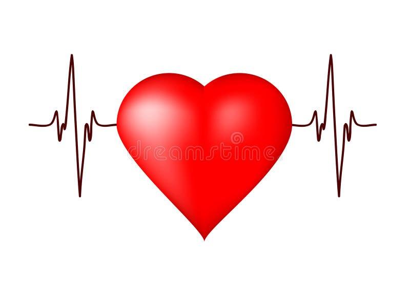 Cardiogramma del cuore illustrazione vettoriale