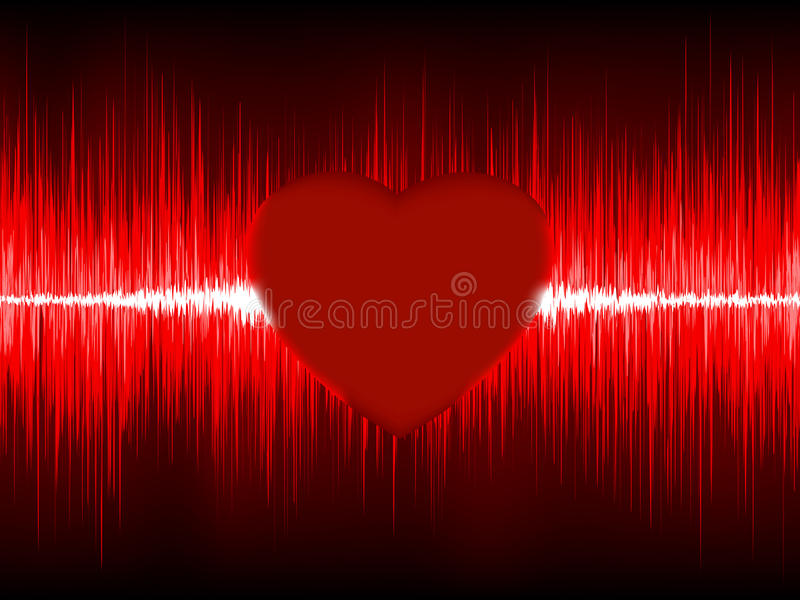 Cardiogramme abstrait de coeur. ENV 8 illustration de vecteur