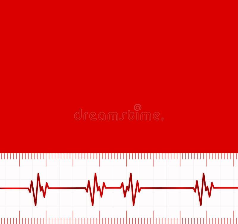 Cardiogramme de battements de coeur Utile en tant que fond médical illustration libre de droits