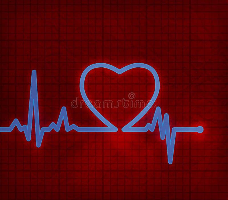 Cardiogramme De Coeur Avec Le Coeur Là-dessus Image stock