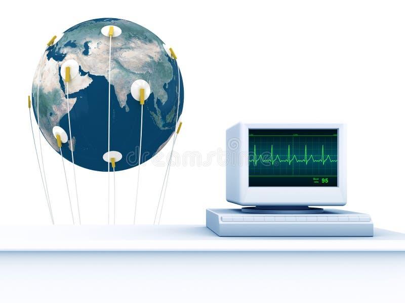 Cardiogramme De La Terre Images libres de droits