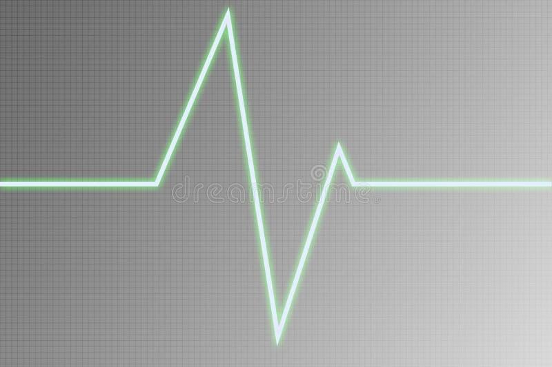cardiogramradiowave royaltyfri illustrationer