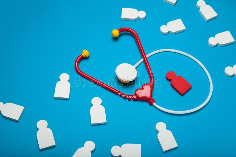 Cardiologia del bambino, medicina di pediatria Stetoscopio, cura immagini stock