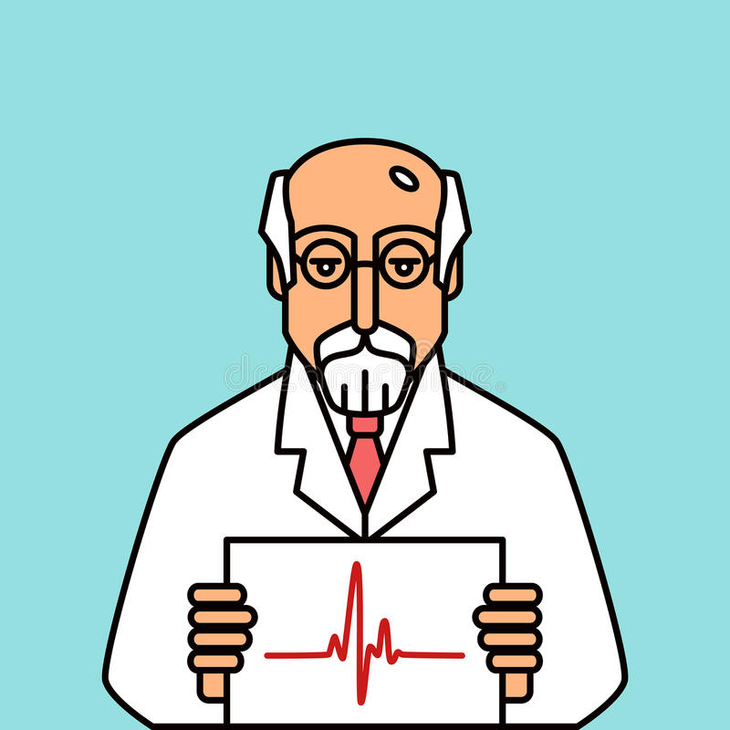cardiologist royaltyfri illustrationer