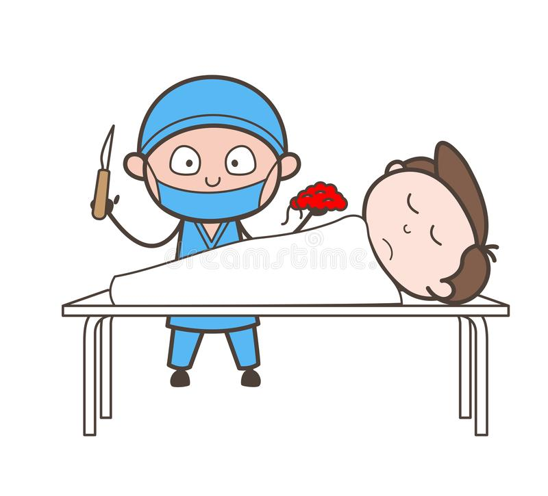 Cardiologist Showing Patient Die Due to Heart Failure Vector Concept stock illustration