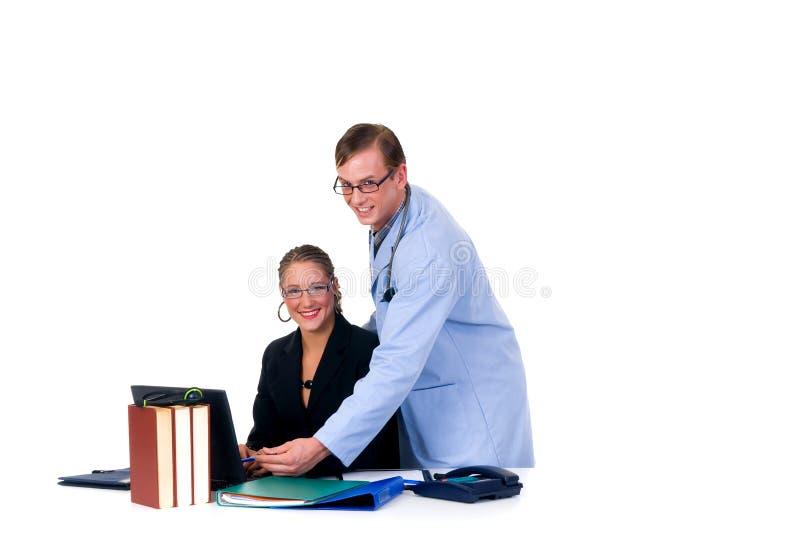 cardiologistläkarundersökninglag royaltyfri foto