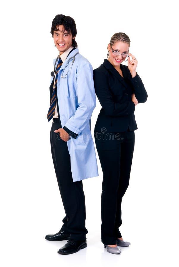 cardiologistläkarundersökninglag arkivfoto