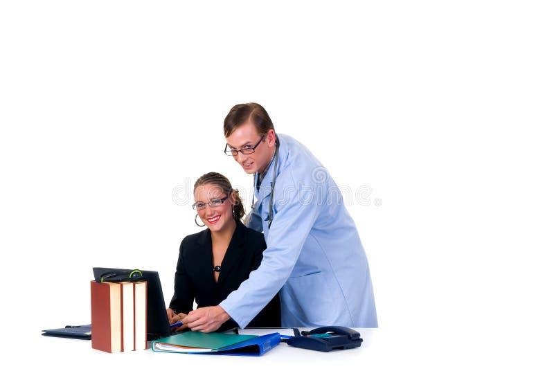 cardiologistläkarundersökninglag fotografering för bildbyråer