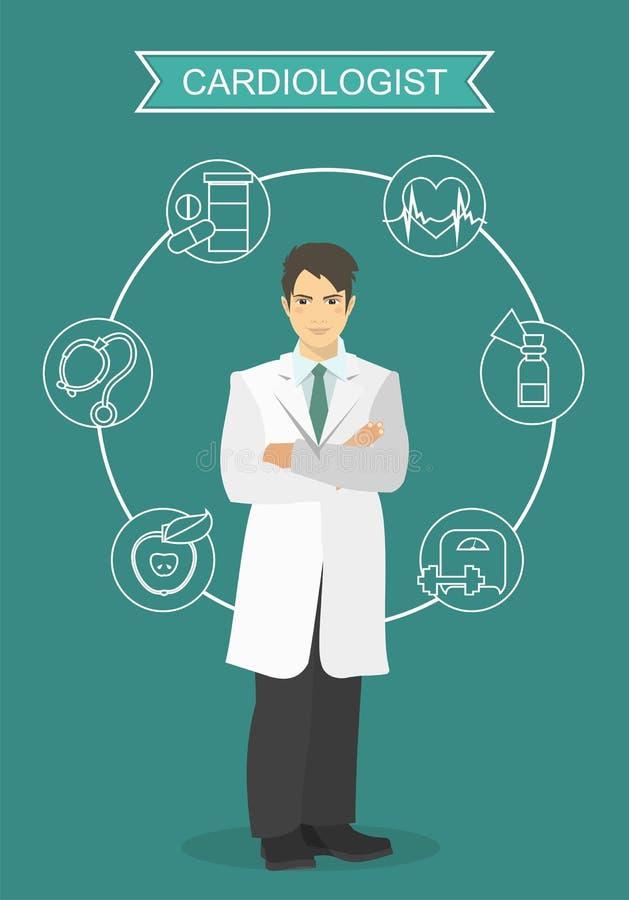 cardiologo illustrazione vettoriale