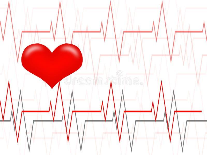 cardiology vektor illustrationer