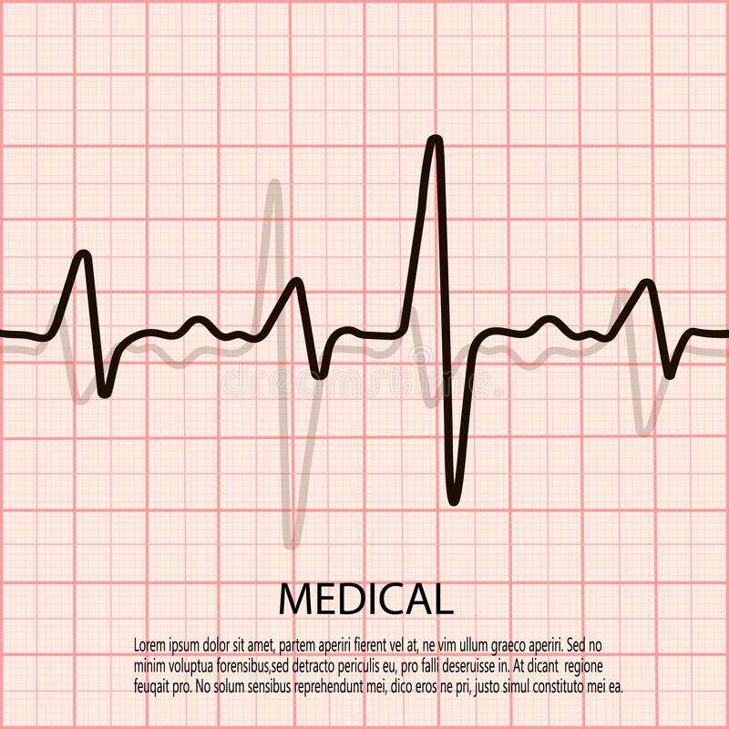 Cardiology concept with pulse rate diagram medical background with download cardiology concept with pulse rate diagram medical background with heart cardiogram stock illustration ccuart Image collections