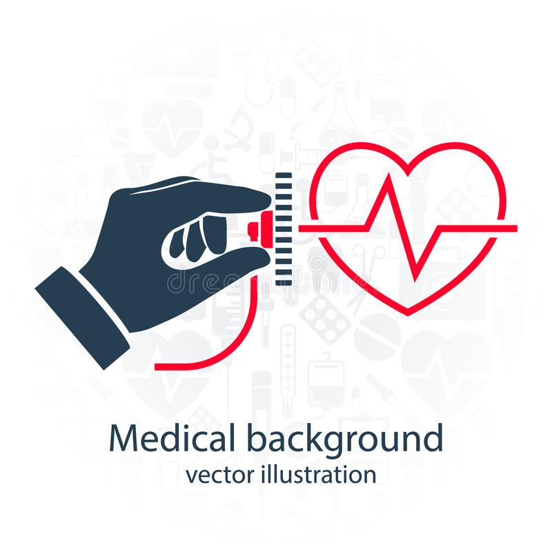 Cardiology concept vector royalty free illustration
