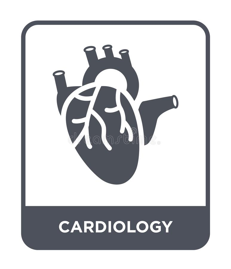 Cardiology icon in trendy design style. cardiology icon isolated on white background. cardiology vector icon simple and modern. Flat symbol for web site, mobile royalty free illustration
