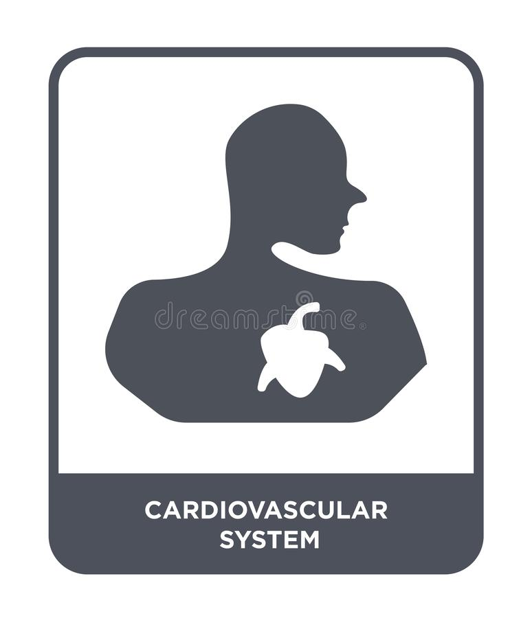 cardiovascular system icon in trendy design style. cardiovascular system icon isolated on white background. cardiovascular system stock illustration