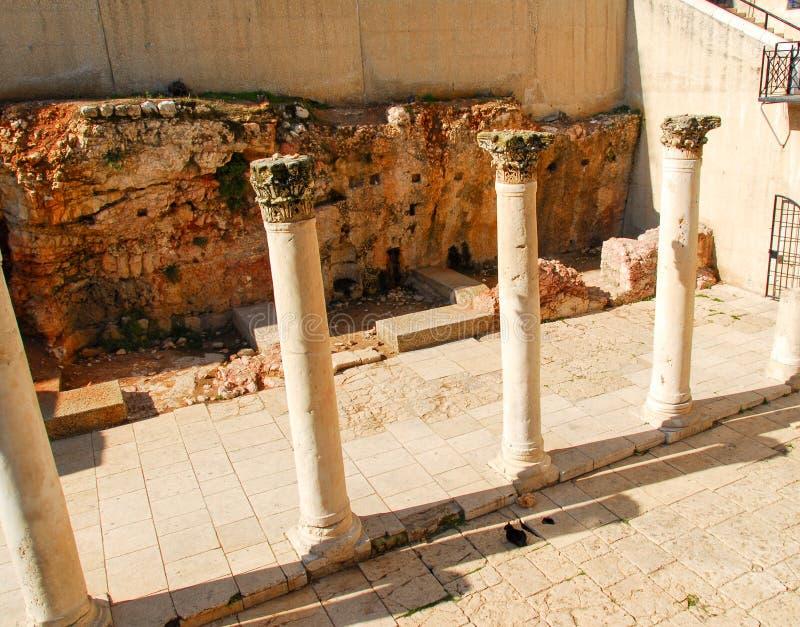 Cardo -罗马街道,耶路撒冷 库存图片