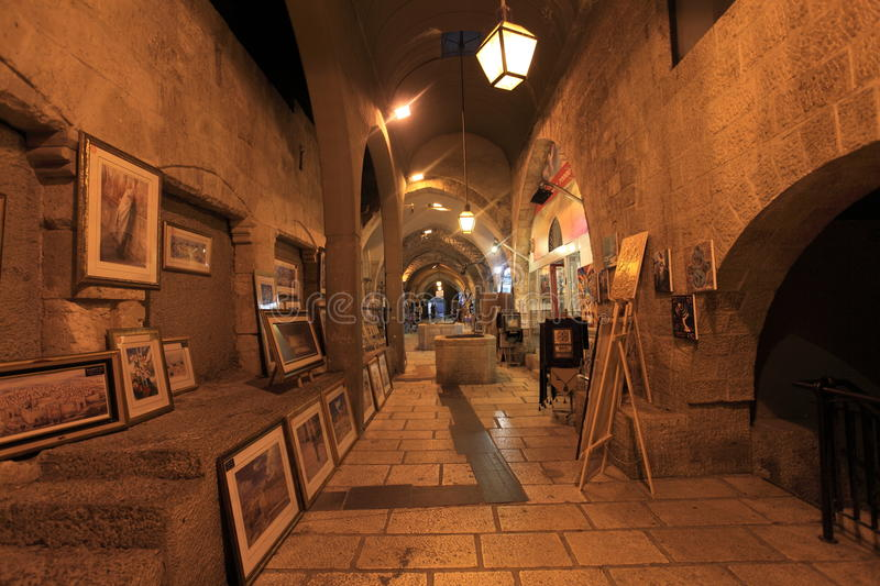 Cardo Arcade Galleries & Shops, Jerusalem stock photo