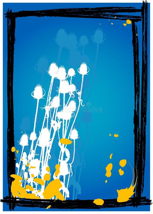 Cardo en el fondo azul - vector ilustración del vector