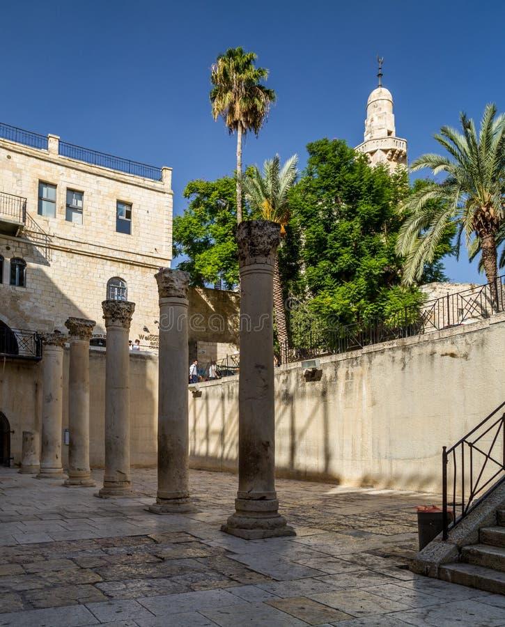 Cardo in Oude Stad van Jeruzalem, Israël stock fotografie