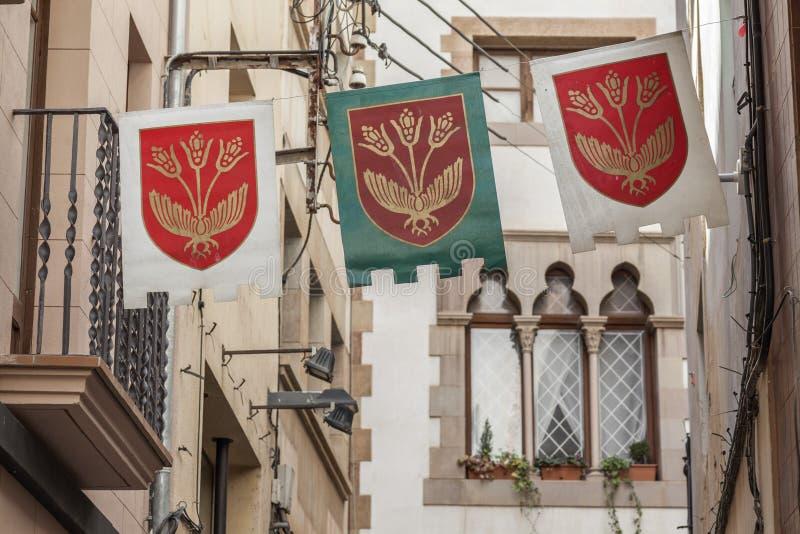 Cardona Catalonia, Spanien arkivbilder