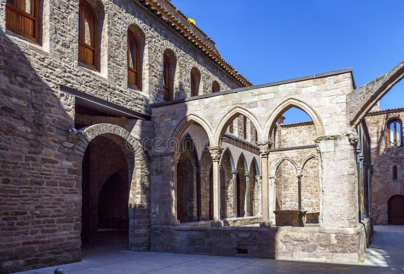 Cardona-Schloss mittelalterlich in Katalonien. stockfotos