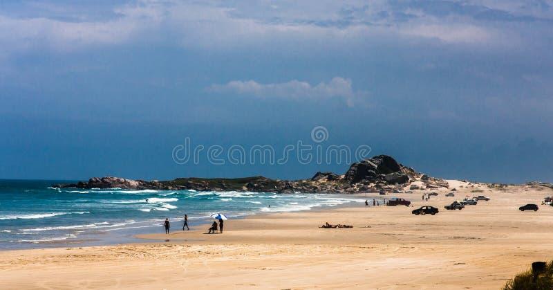 Cardoso strand Santa Catarina Brazil royaltyfri foto